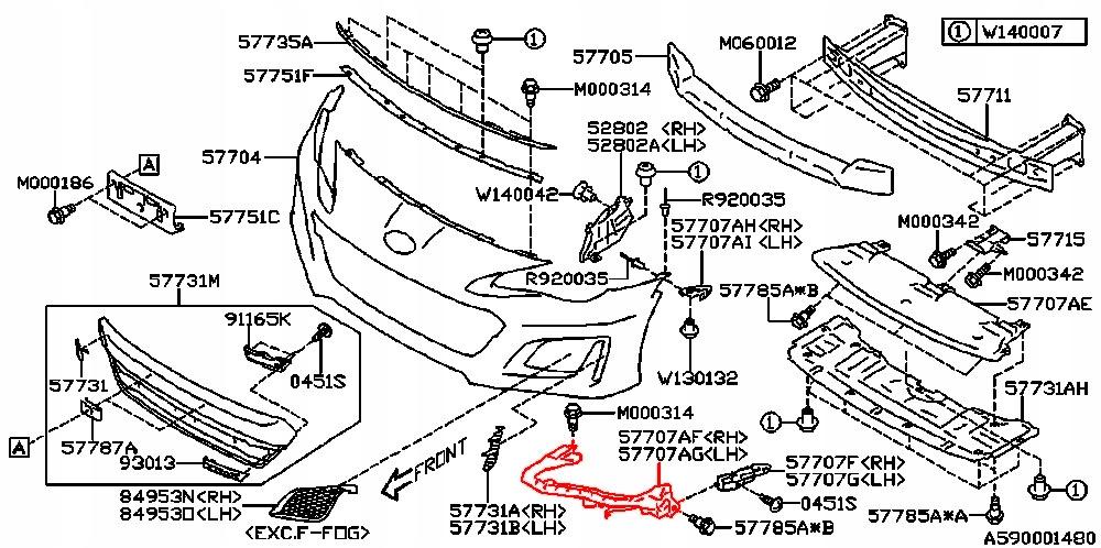 SUBARU BRZ GT86 16- TVIRTINIMAS MONTAVIMAS RANKENELE BAMPERIS (BUFERIS)