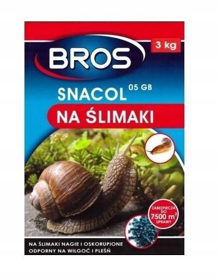 Snacol 05 GB zwalcza ślimaki 3kg BROS
