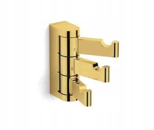 Pohyblivý zlatý háčik Milano Triple 12.330-G