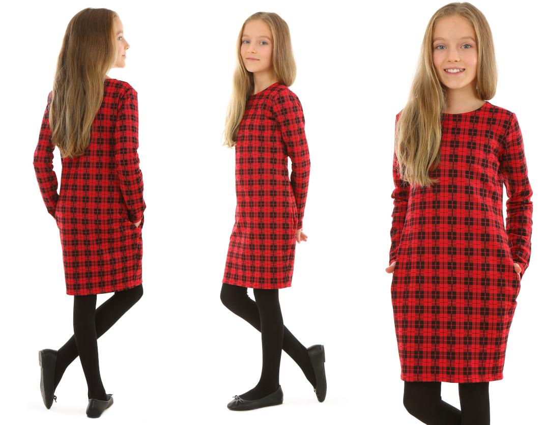 Платье-труба, тюльпан - 146 DOTS CHECK 02