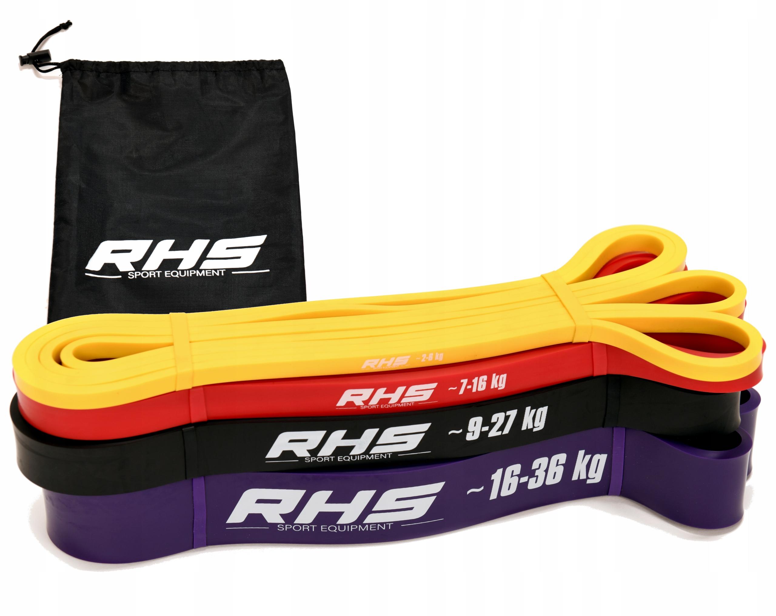 Zestaw Gum do Ćwiczeń POWER BAND gumy oporowe RHS