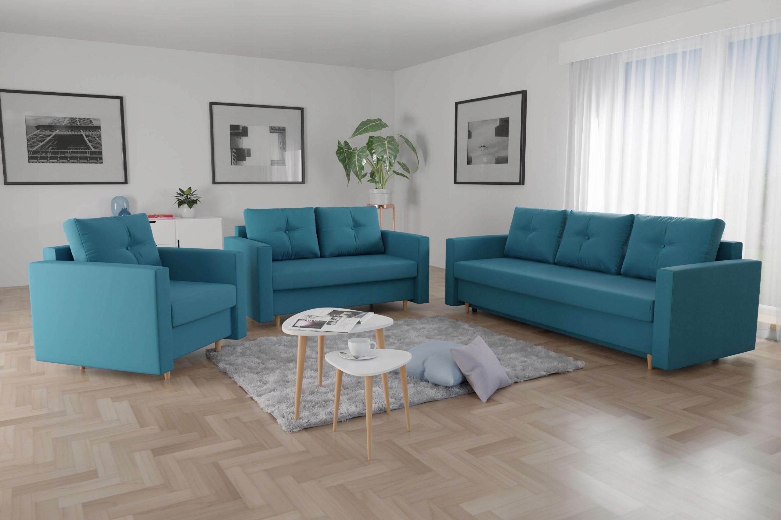 Zestaw wypoczynkowy LIDIA 3+2+1 Sofa Kanapa Fotel