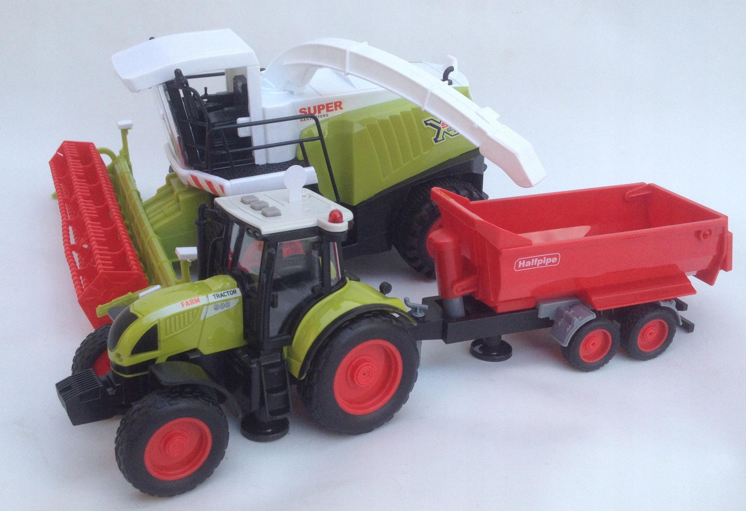 Kombinujte veľkú súpravu traktora pre poľnohospodára FARMERU