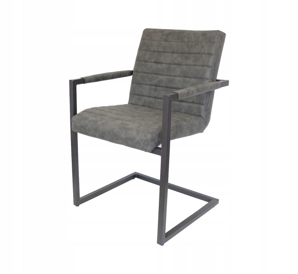 Stoličky v jedálni set 2 Nando vintage sivá
