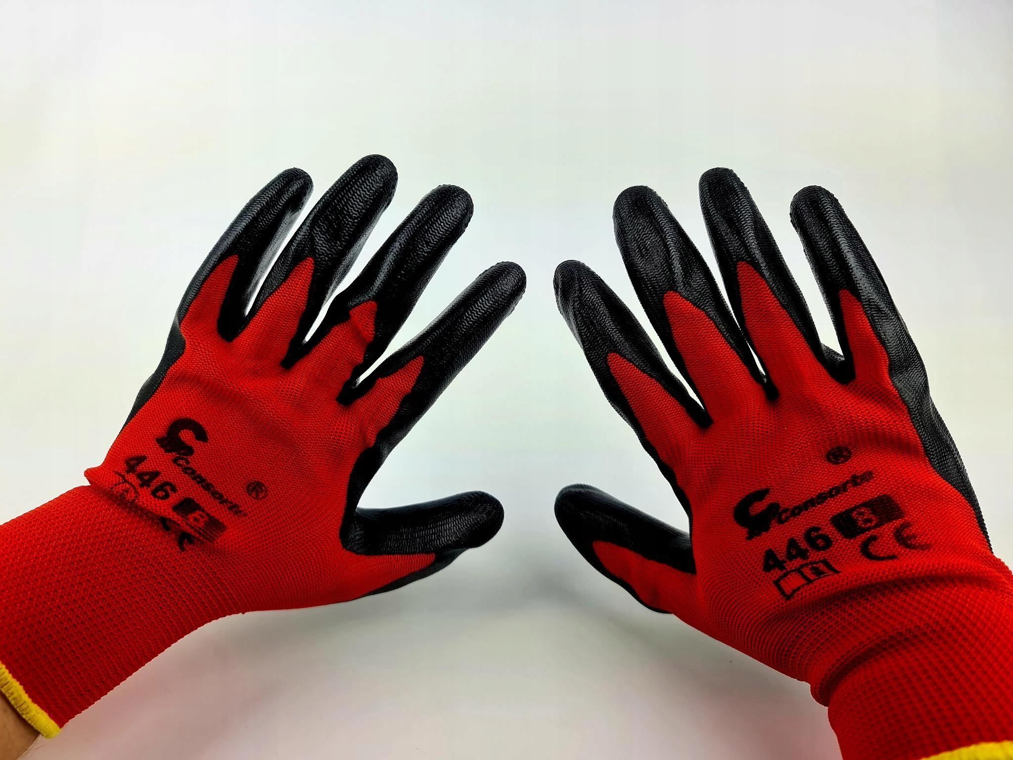Садовые перчатки ROBUST 8M красный нитрил