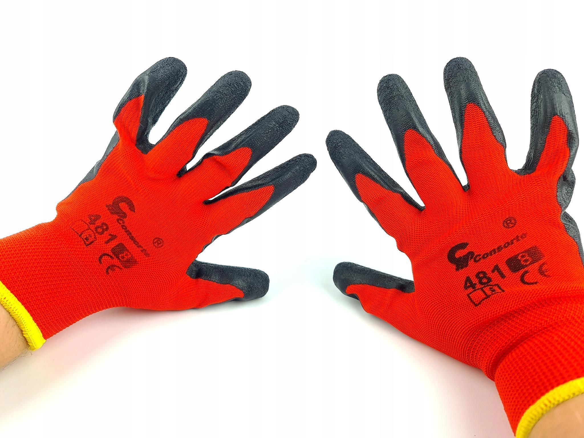 Твердые красные перчатки износостойкие мастерская 8 м.