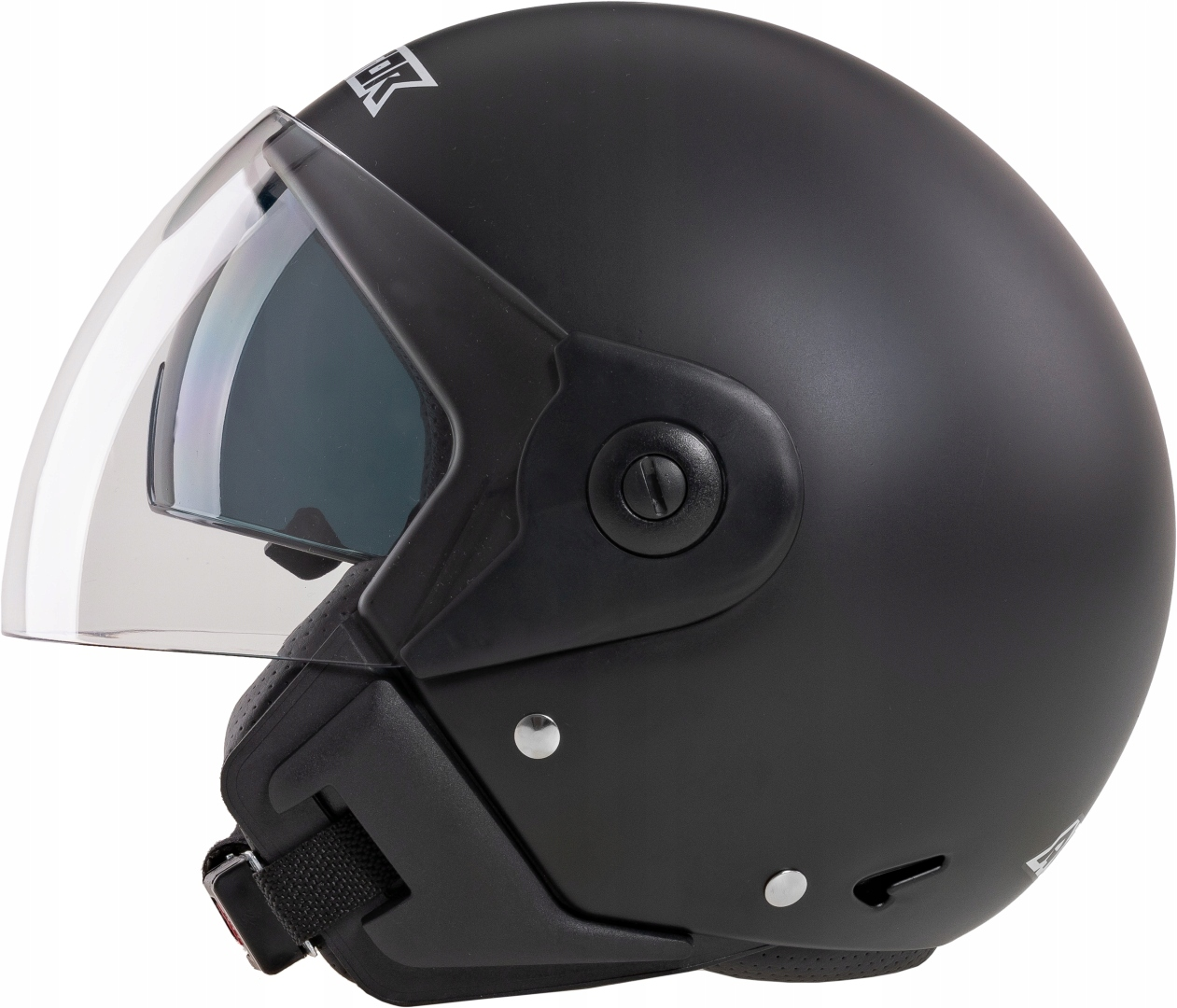 Мотоциклетный шлем открыт на моторном скутере VT XXL