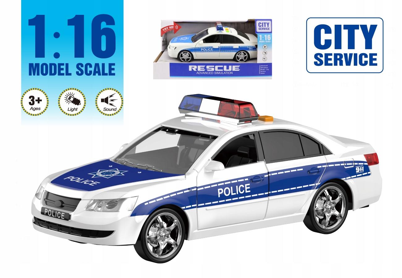 Samochód policyjny otwierane drzwi dźwięki WY560A Skala 1:16