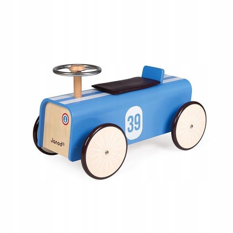 Retro drevené jazdné auto Závodné auto 2+ Janod