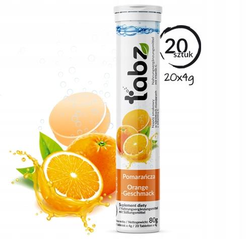 Табз Апельсин-напиток в таблетке. игристое, 20 таблеток