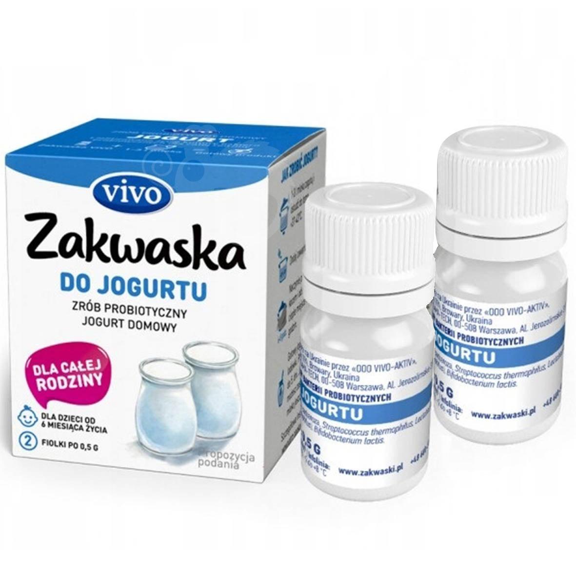 Zakwaska Vivo DO JOGURTU kultury bakterii 2 szt