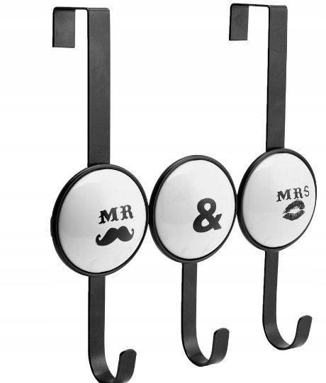 Vešiaky na vešiaky RETRO čierno-biele