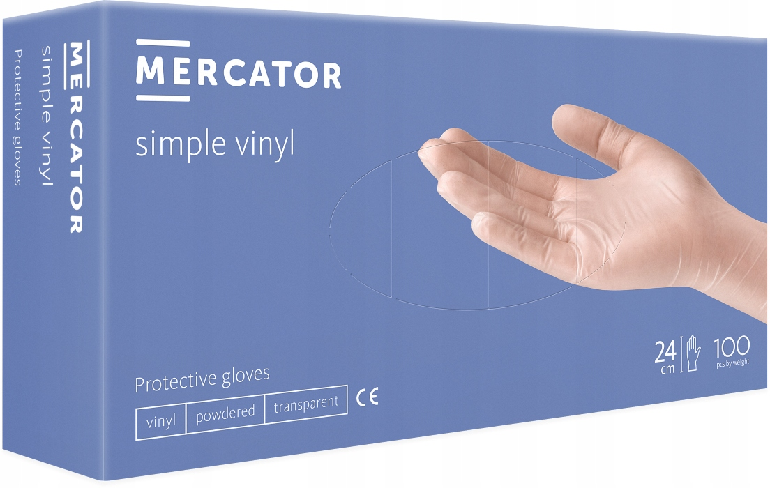 Перчатки виниловые MERCATOR simple PP M 23 VAT