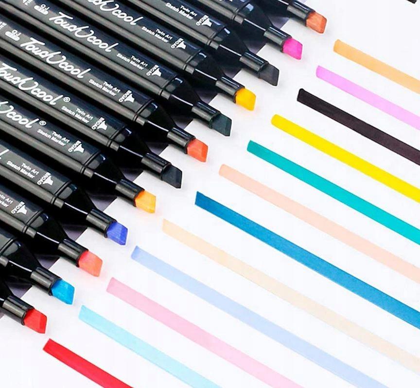 Markery Kolorowe Zakreślacze Pisaki Dwustronne x40 Waga produktu z opakowaniem jednostkowym 0.895 kg