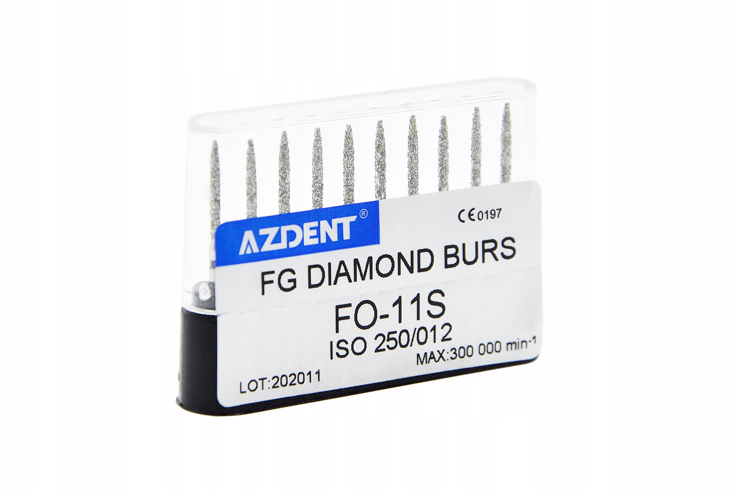 Сверла алмазные AZDENT FO 11S