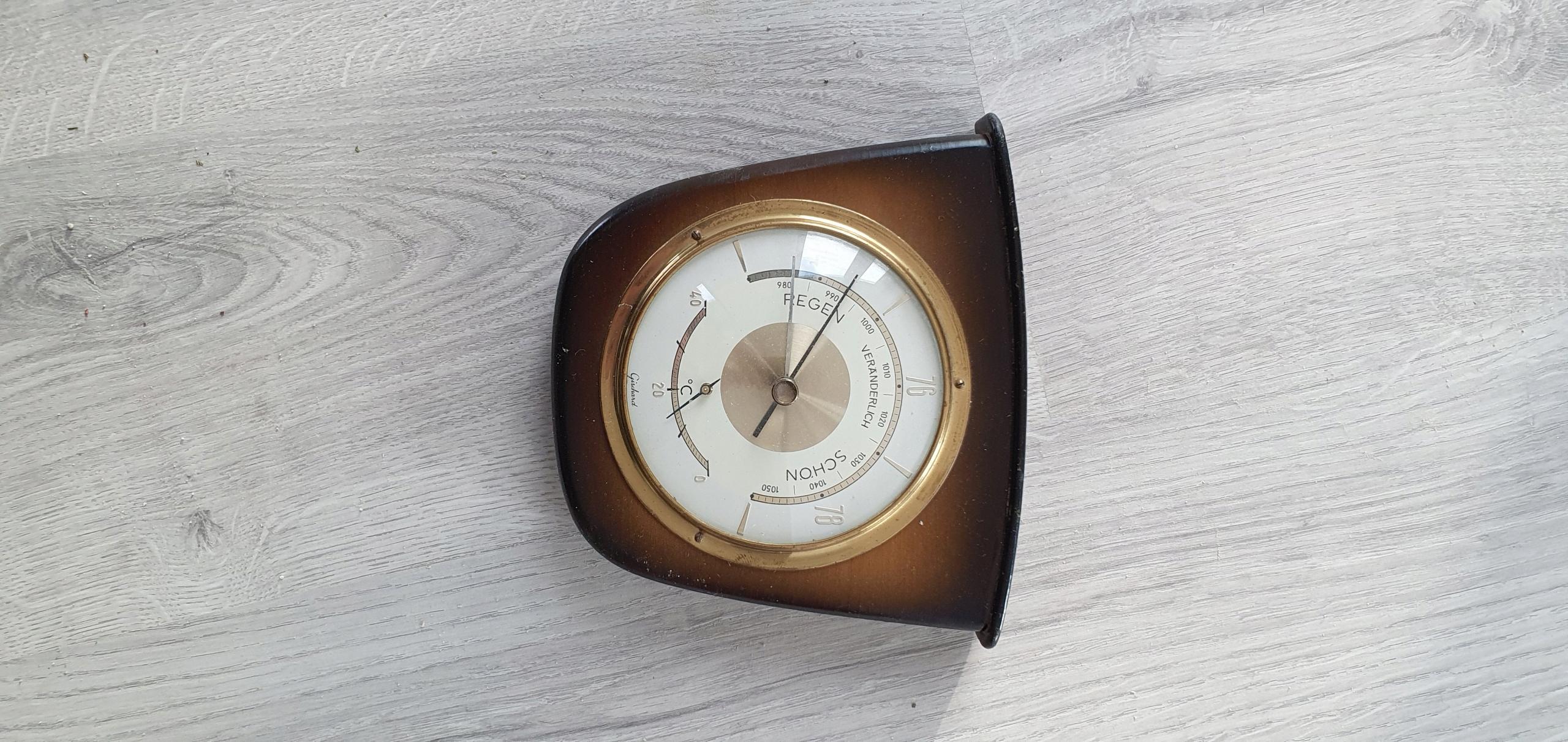 Барометр + функциональный термометр со знаком