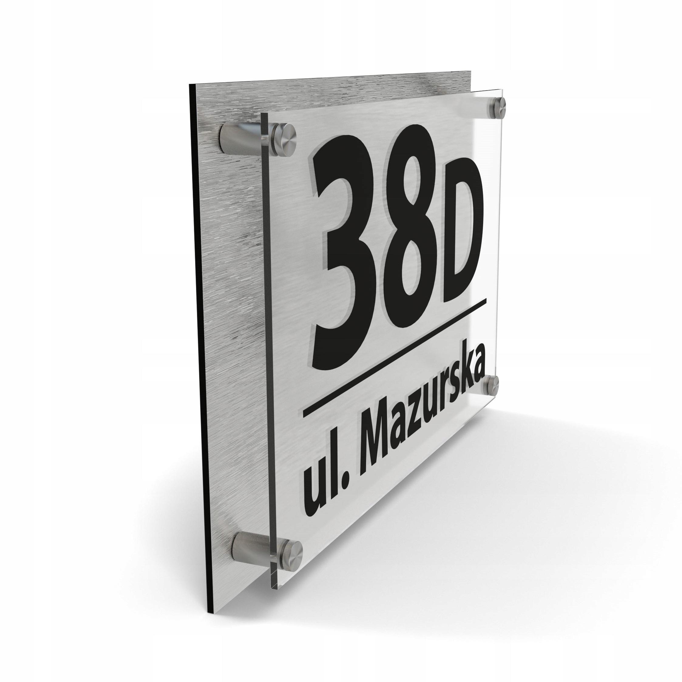 Адресная табличка номер дома 30х20 3D - ЦВЕТА