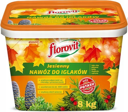 Nawóz do iglaków jesienny Florovit 8 kg granulat