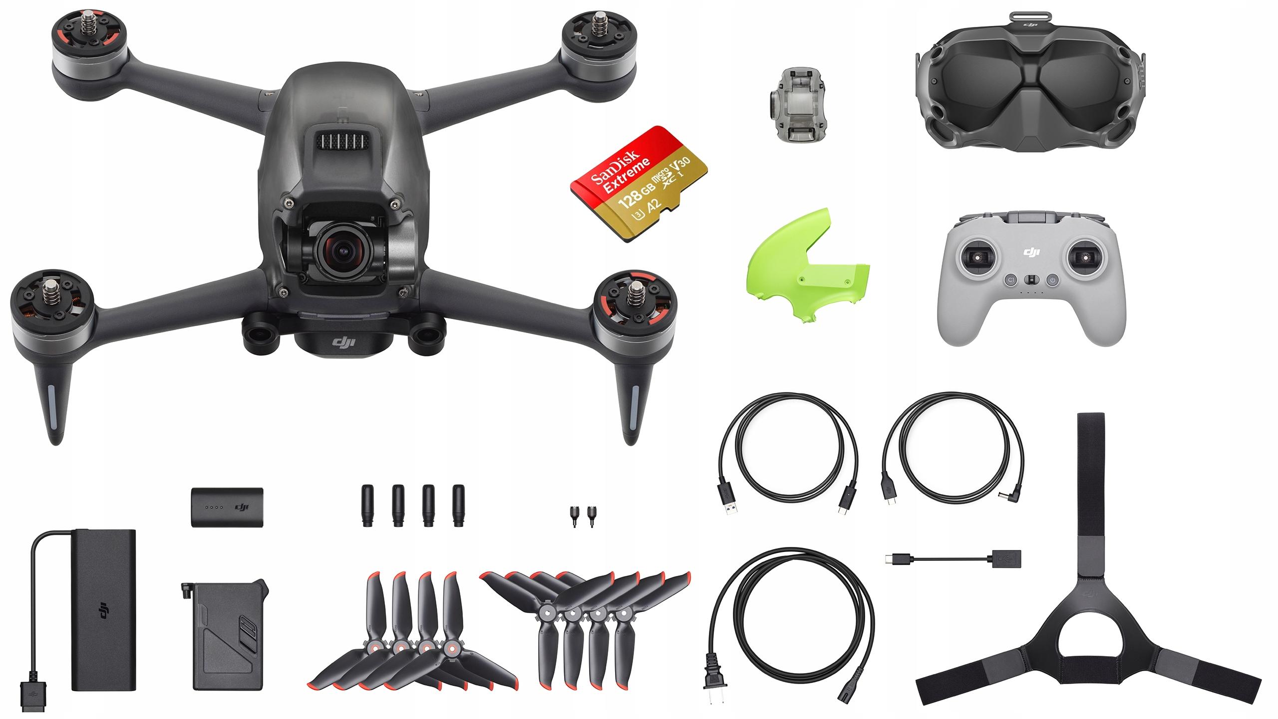 Dron DJI FPV + Fly More Kit (Combo) 3 Baterie Hub Model DJI FPV Combo + DJI FPV Fly More Kit