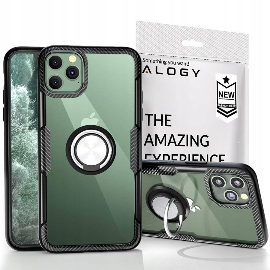 Etui Alogy Karbon Case Ring Holder - Iphone 11 Pro