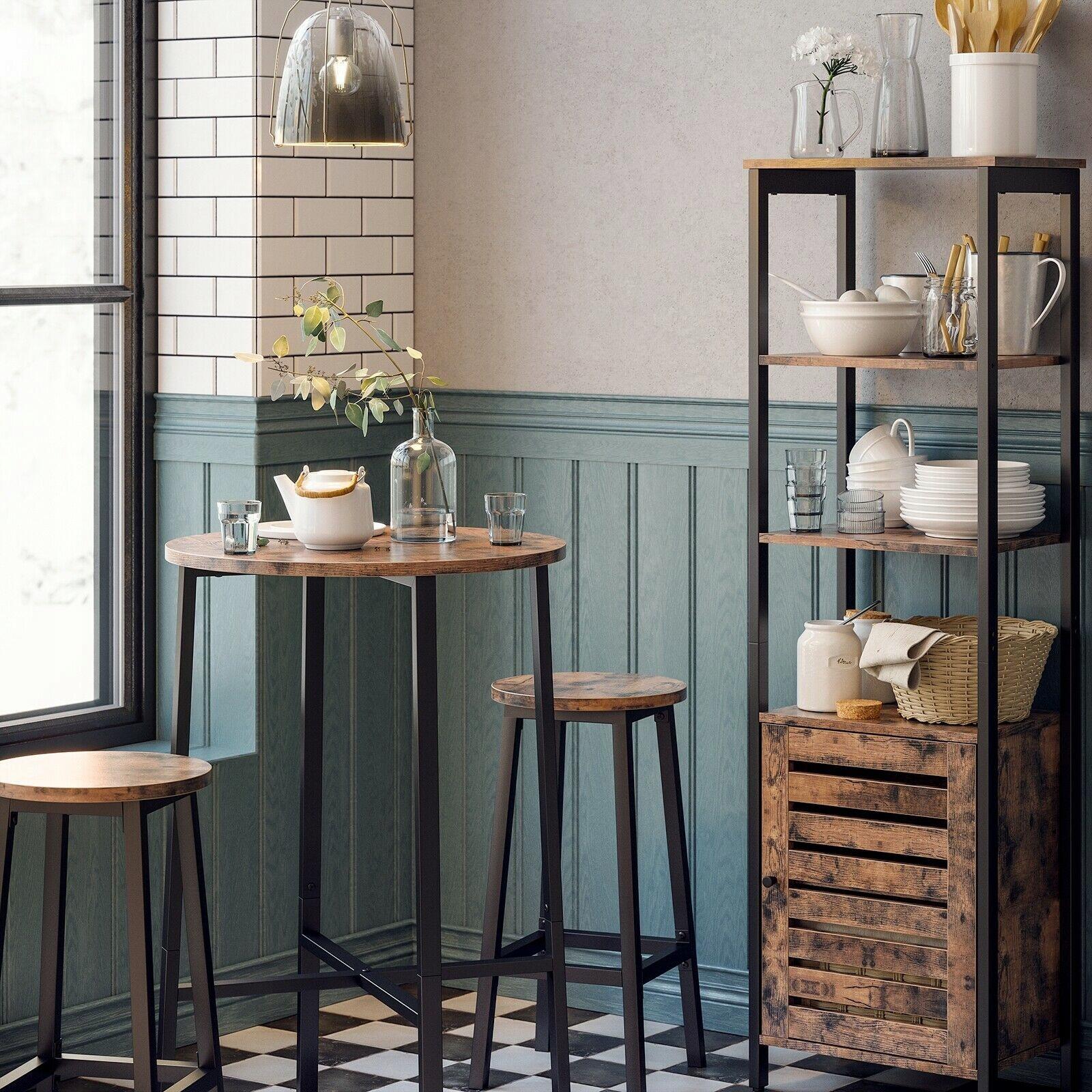 okrúhly stôl 2 taburetky vintage retro sada dreva