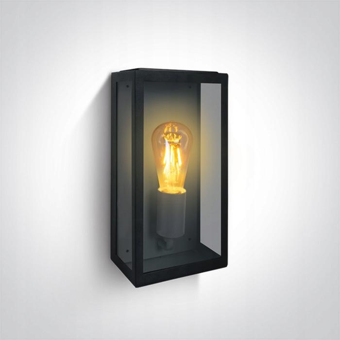 Vonkajšie nástenné svietidlo retro štvorec E27 vinobranie 33 cm