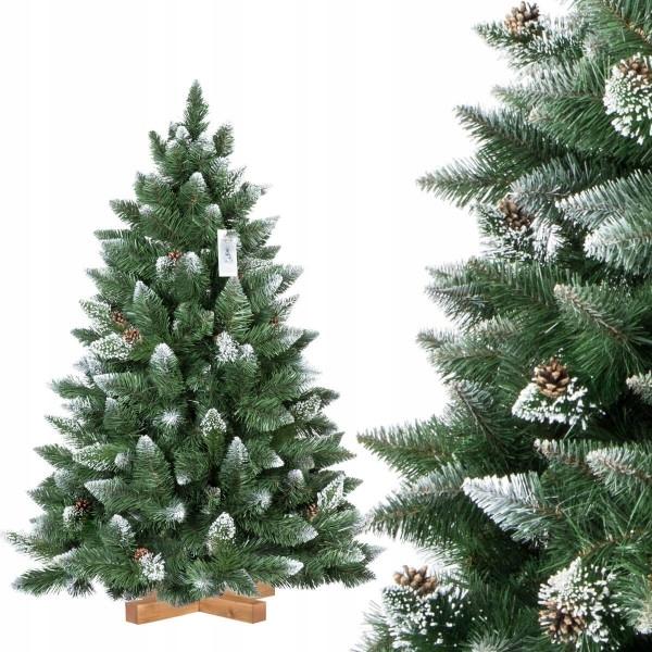 Vysoký umelý vianočný stromček 250 cm zasnežená Borovica