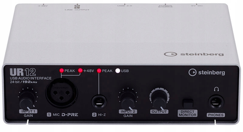 Item STEINBERG UR12 USB AUDIO INTERFACE + CUBASE AI