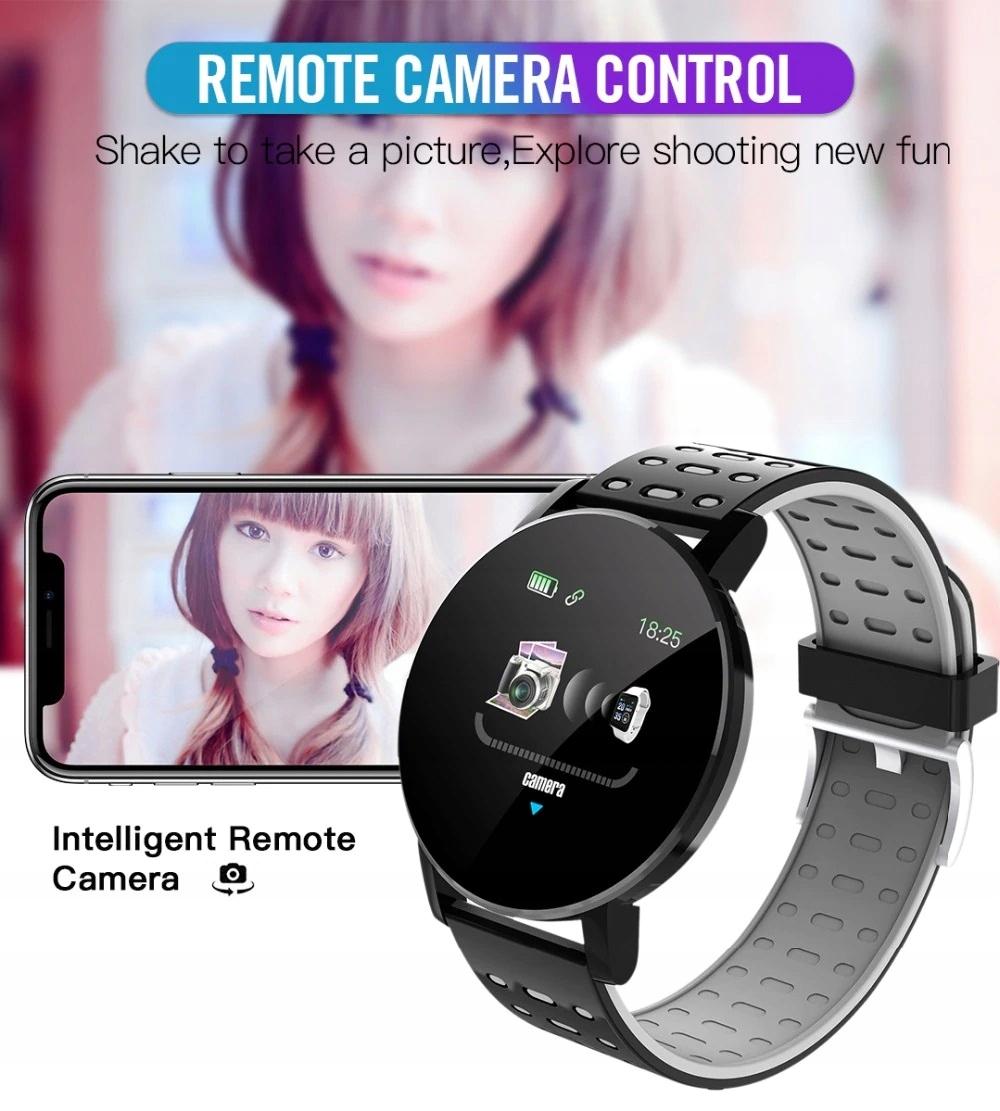 Zegarek Smartwatch Bluetooth 16w1 kroki puls cykl Kształt koperty okrągły