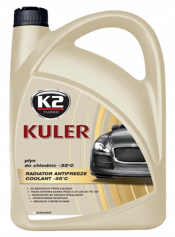 K2 PłYN DO CHłODNIC KULER -35°C BEZBARWNY 5L