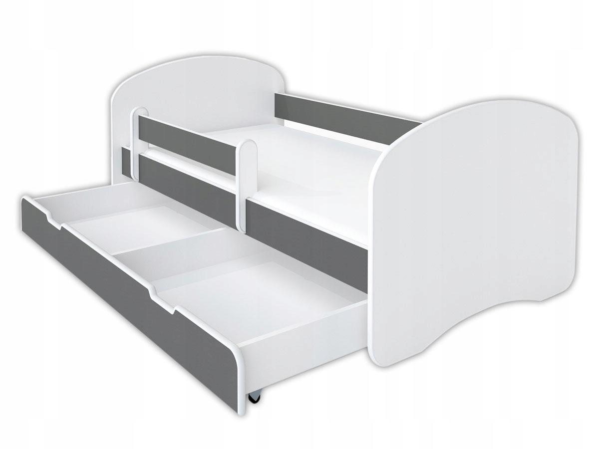 Bilaterálne posteľ 160x80cm so penové matrace - sivá
