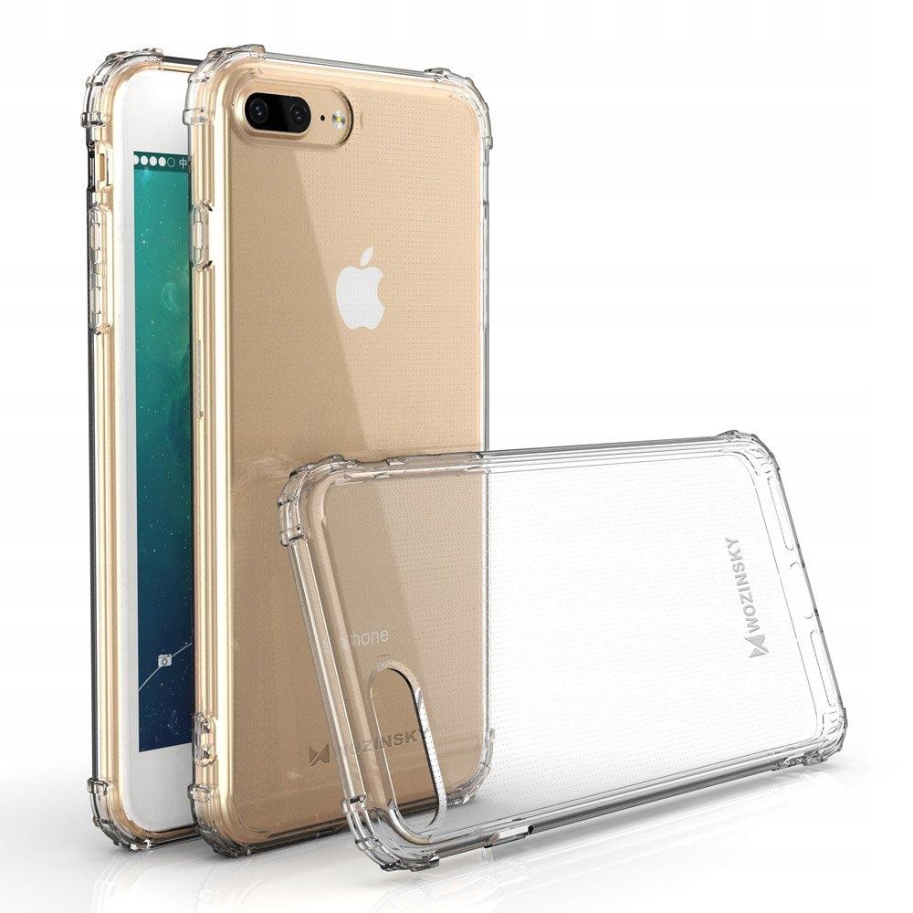 Pancerne etui A-Shock + szkło do iPhone 7 / 8 Plus Kolor bezbarwny