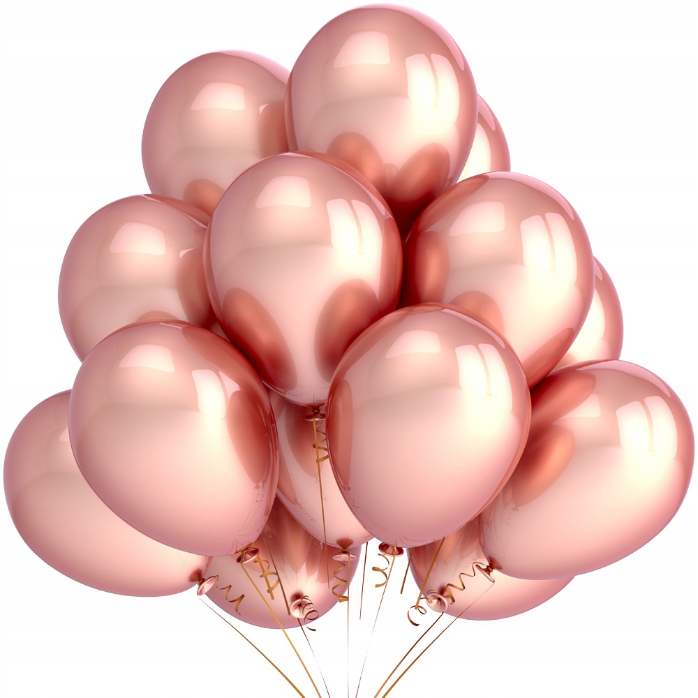 Купить Металлические шары Rose Gold Розовое Золото 14pcs на Otpravka - цены и фото - доставка из Польши и стран Европы в Украину.