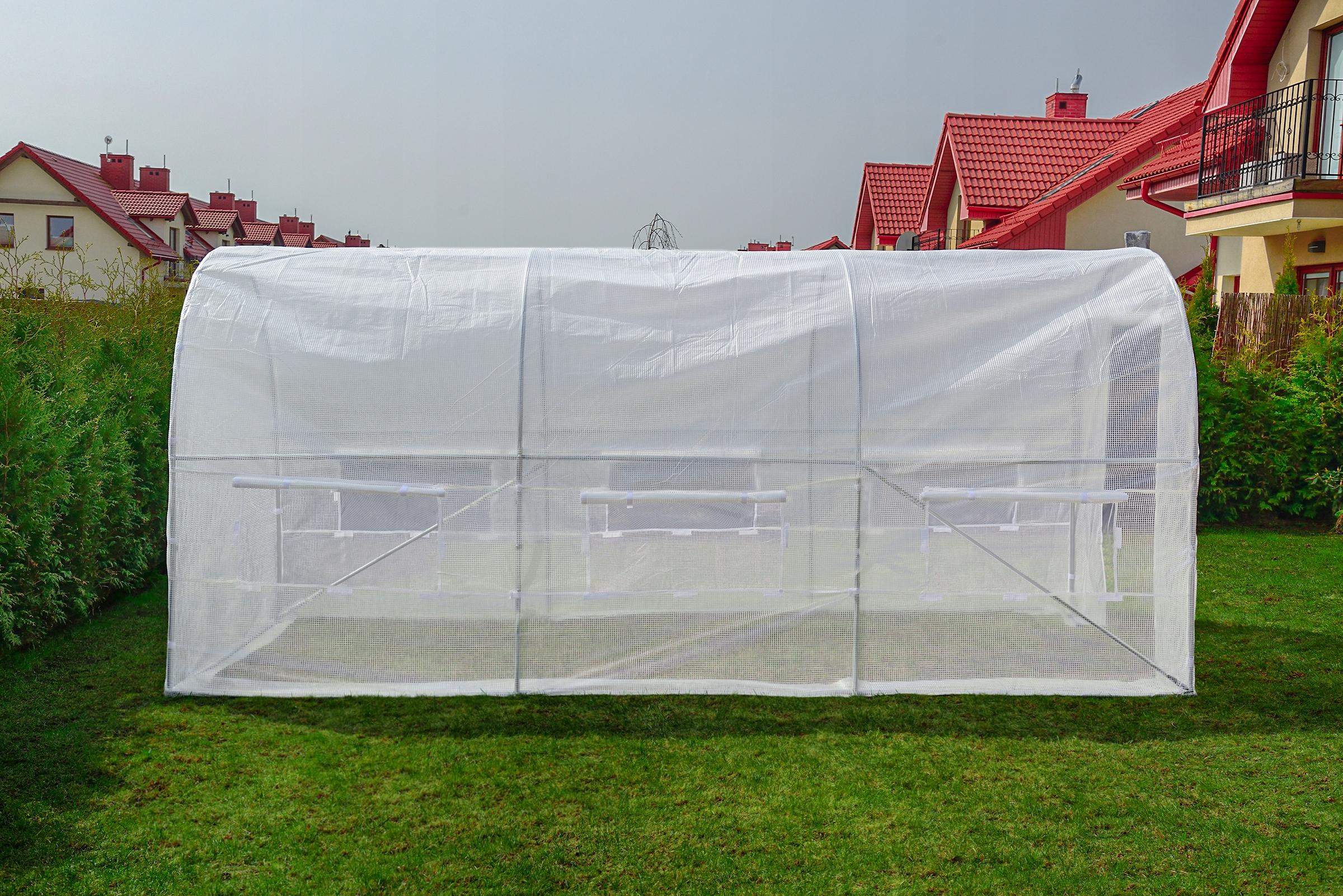 FÓLOVÝ TUNEL 10m2 ZAHRADA GREENHOUSE 4x2,5m UV-4 Výška 200 cm