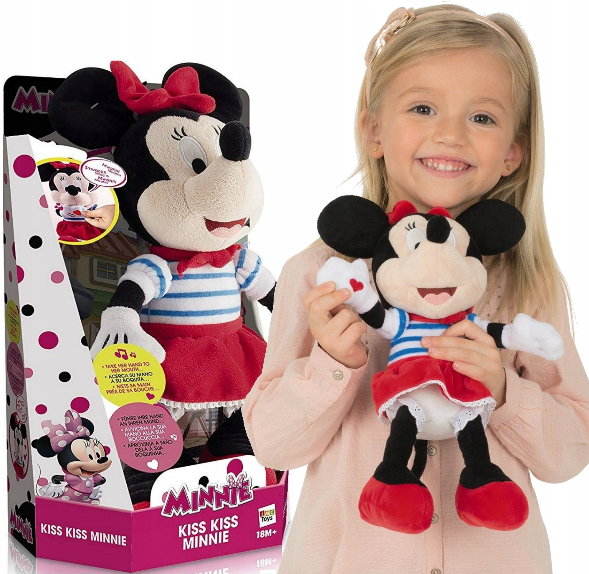 MYŠKA MINNIE MINI MASCOT DÁVA PLNÚ DISNEY