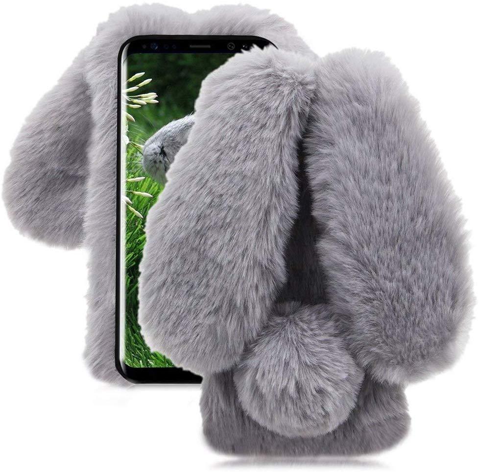 Etui do Samsung Galaxy M11 Pluszowe Królik + Szkło