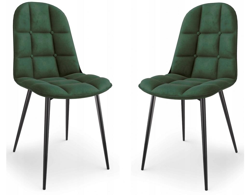 Krzesło Tapicerowane Pikowane Zieleń Welur Trevi2 Marka Inny producent