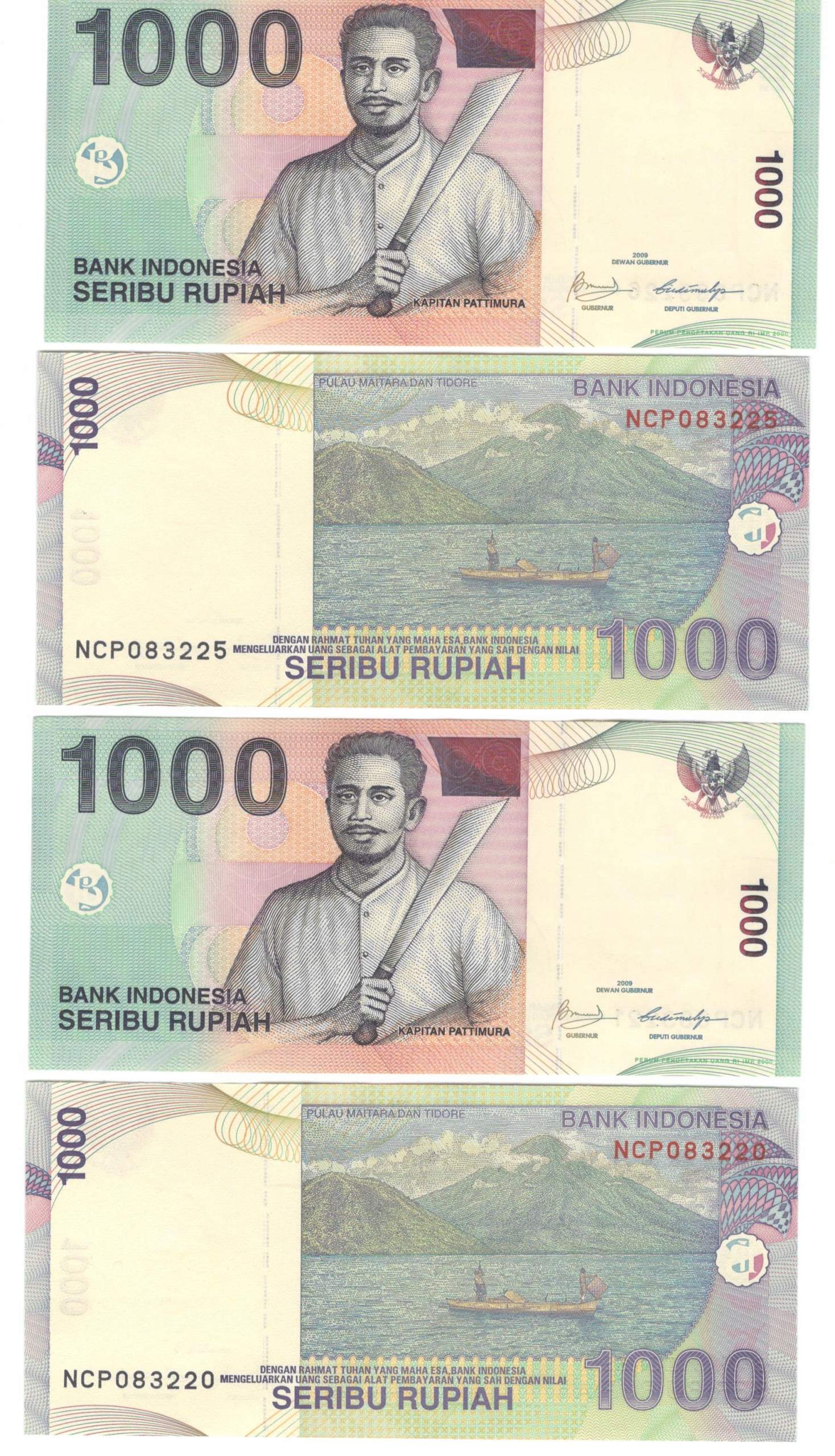 ИНДОНЕЗИЯ - 1000 РУП - 2009 UNC