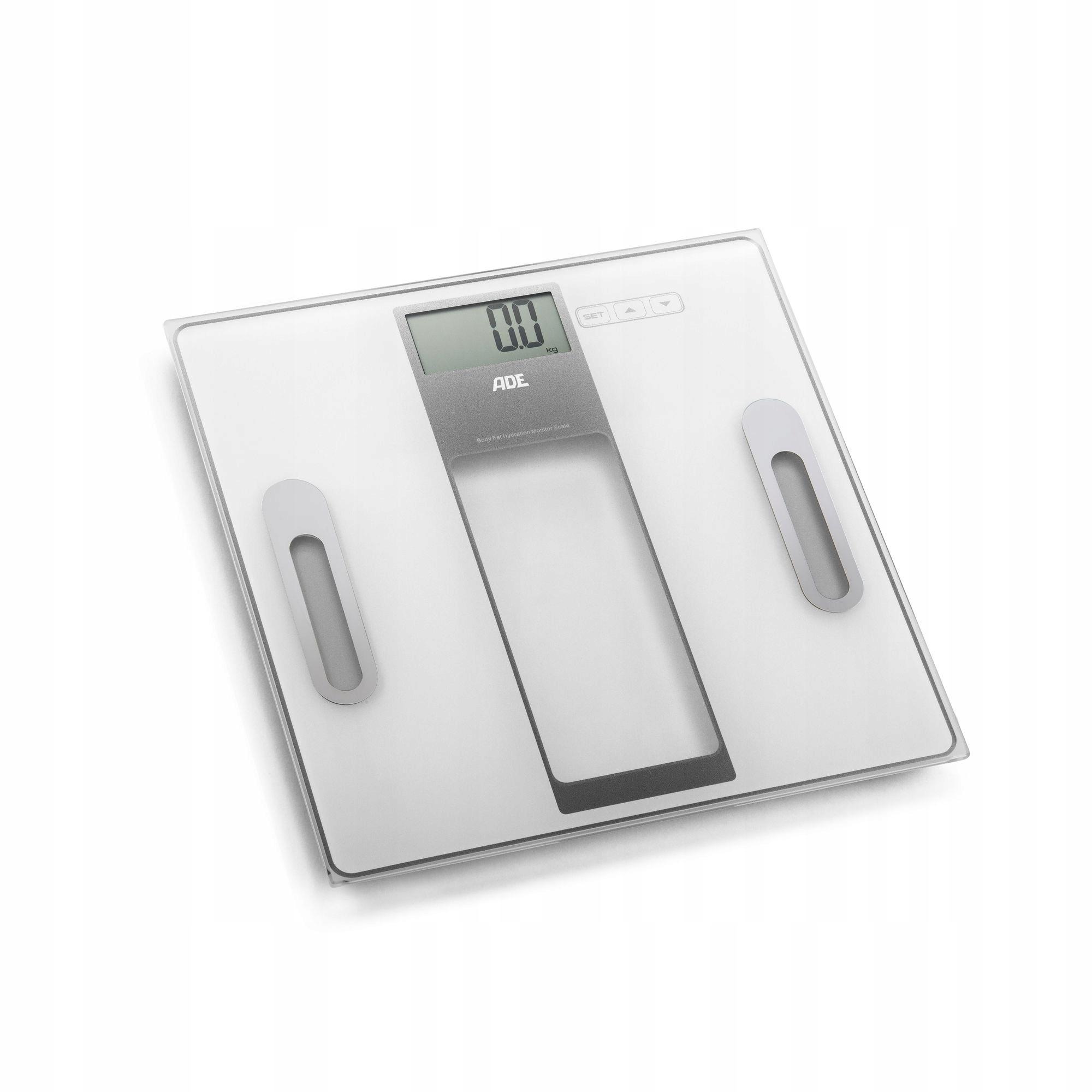 Váha do kúpeľne s analýzou telesnej hmotnosti 30x30cm ADE