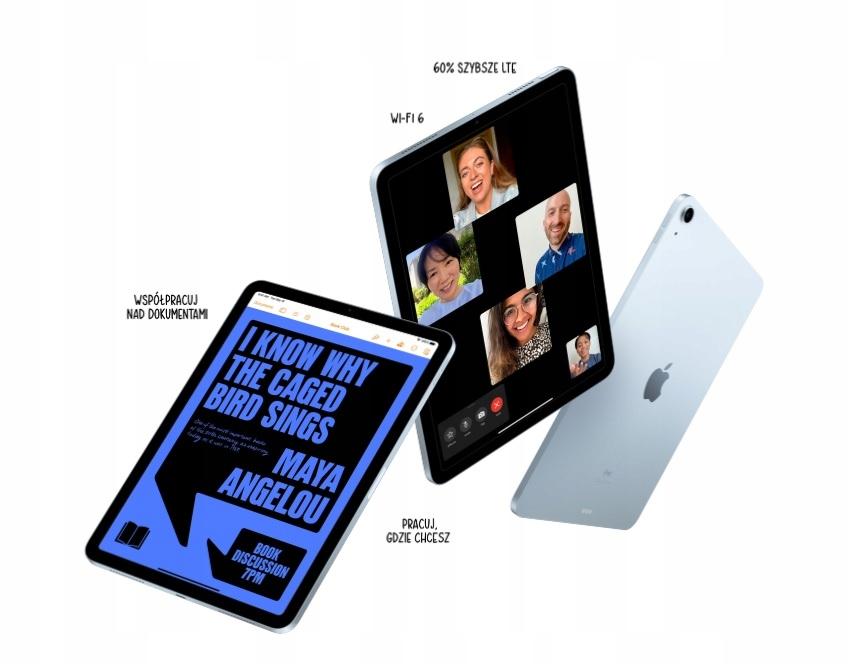 """OD RĘKI (Najnowszy) iPad Air 10.9"""" 64GB FV23% Wbudowana pamięć 64 GB"""