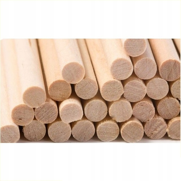 Палки деревянные ЛУЧИ гладкие 100шт 220х6мм