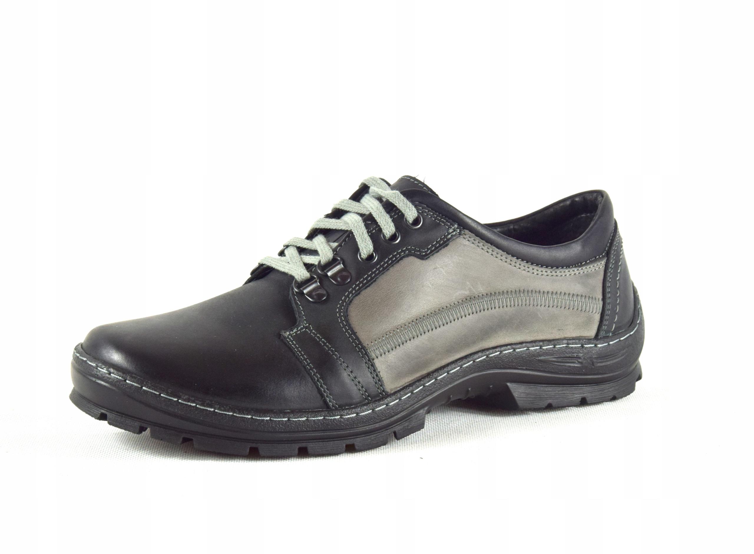Półbuty trekkingowe męskie buty skórzane PL 192