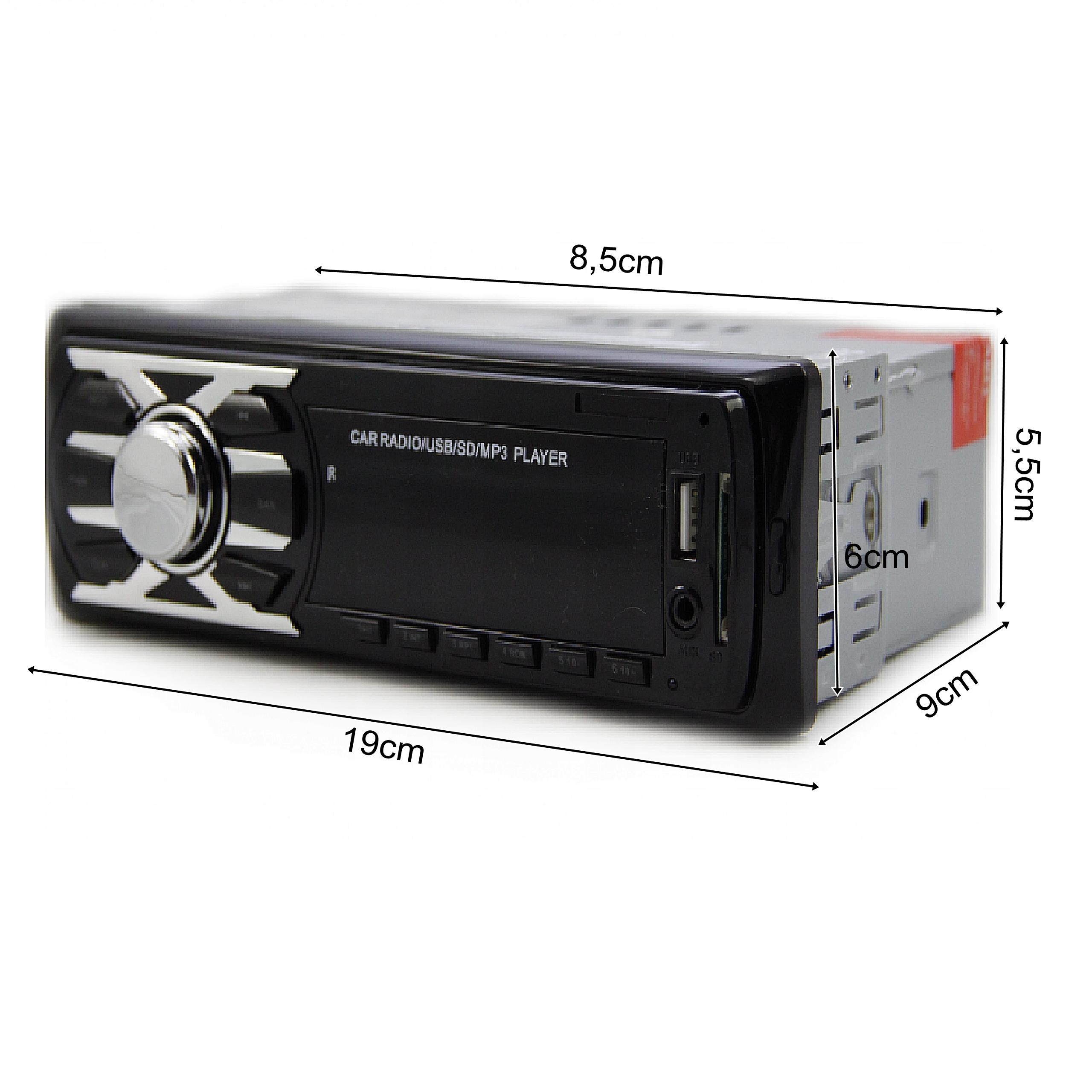 RADIO SAMOCHODOWE SD USB FM MP3 AUX + PILOT Kod producenta CDX-6263E
