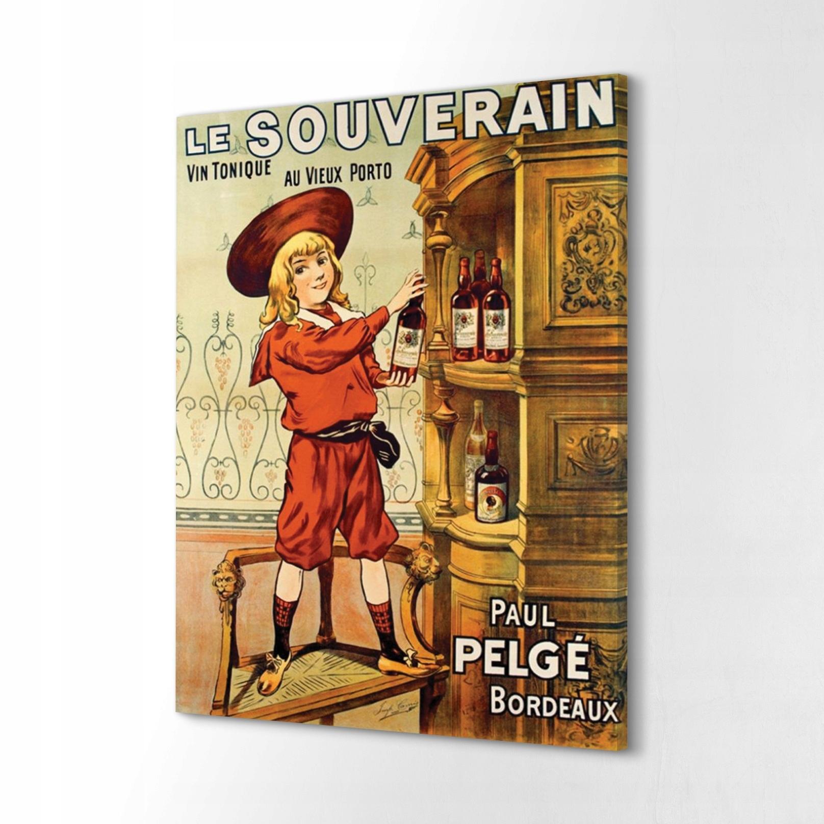 Foto-obrazové plátno 40x60 Le Souverain retro reklama