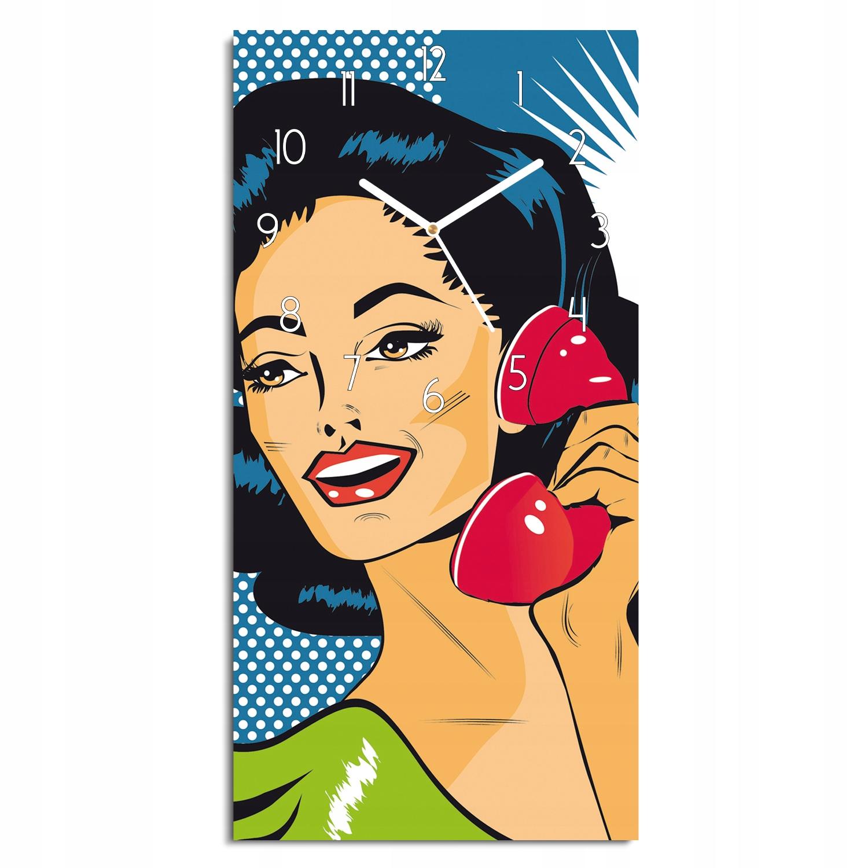foto-hodiny Lady retro kancelársky telefón 30x60 tichý