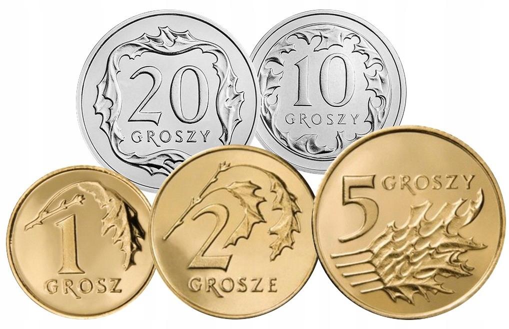 Komplet monet obiegowych 2003 r. UNC 5 sztuk