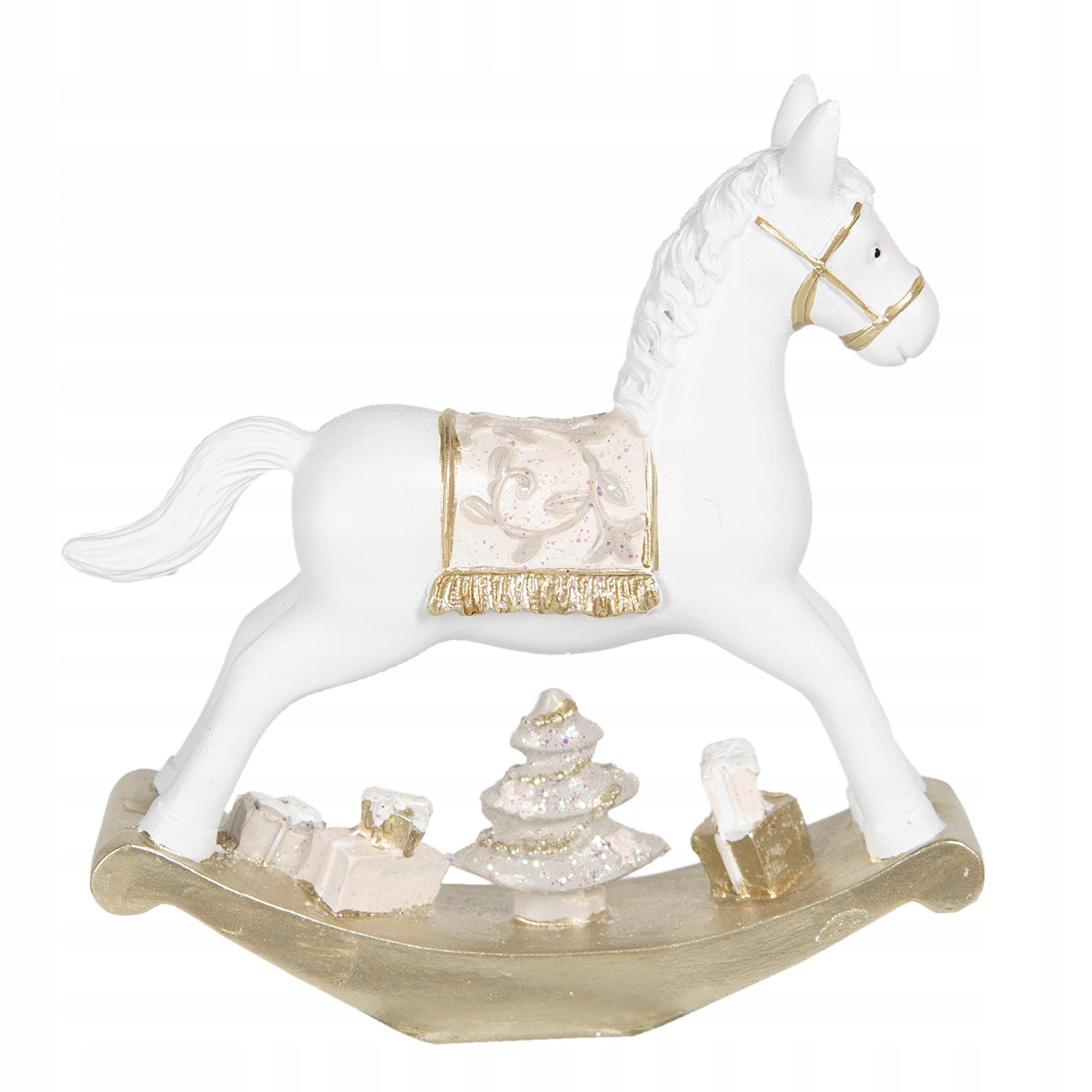 Большая рождественская фигурка лошадки-качалки