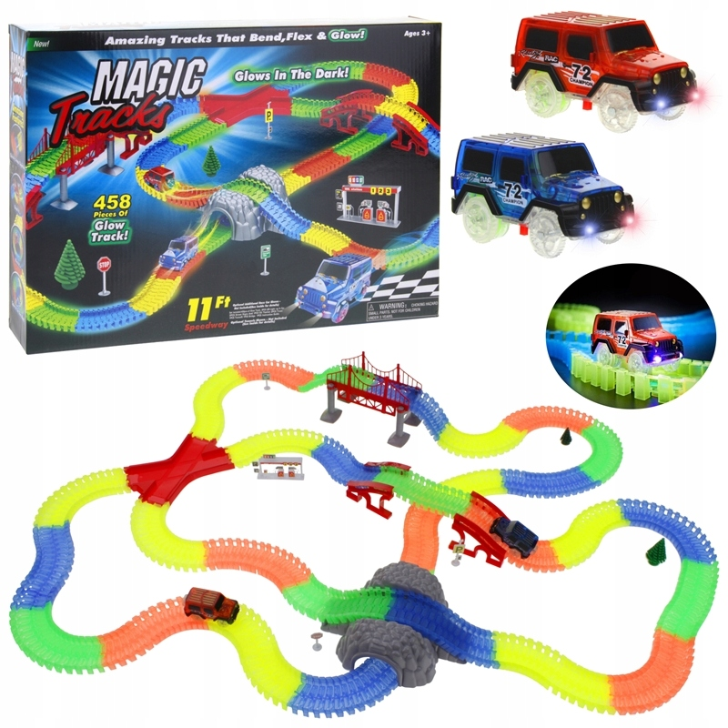 Žiariaca autodráha 492el Magic Track 2 Cars