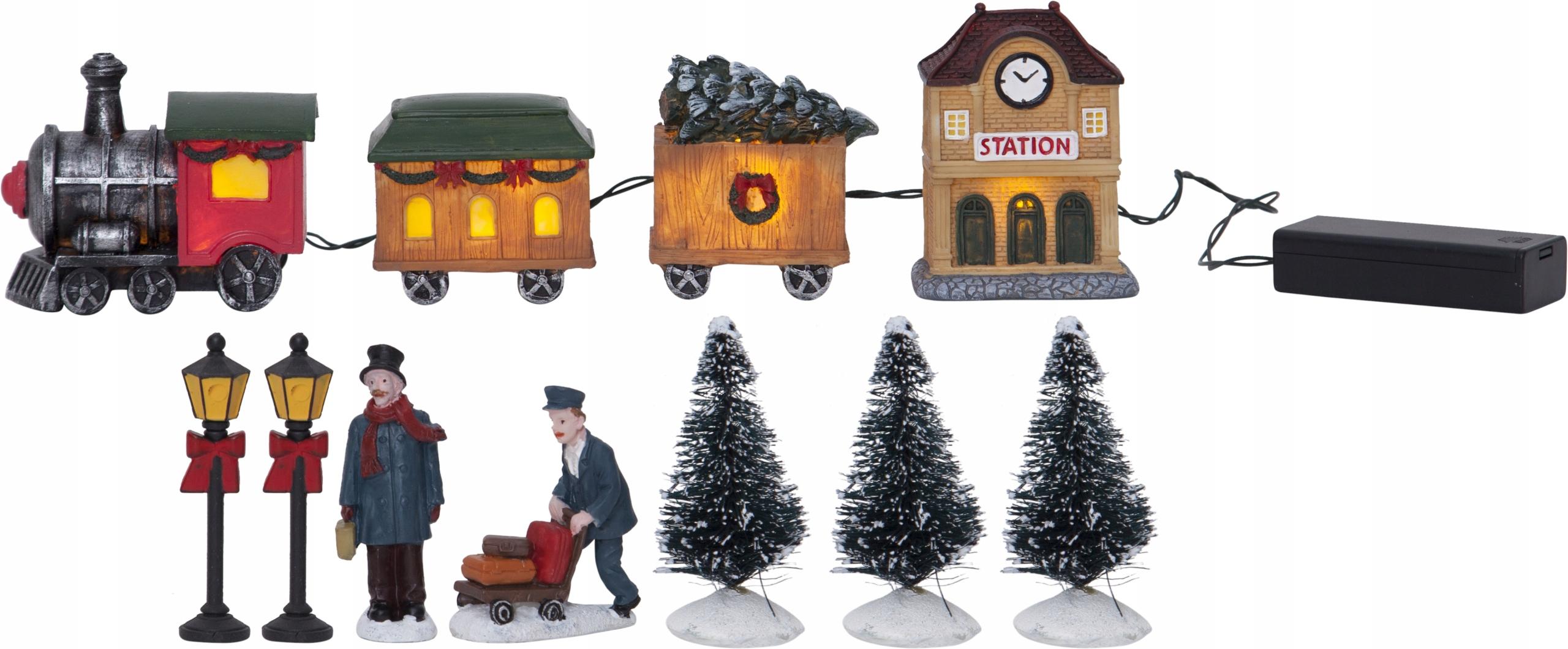 Švédska vianočná scéna KIDSVILLE s LED