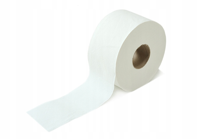 Туалетная бумага белого цвета для подачи JUMBO Мощный